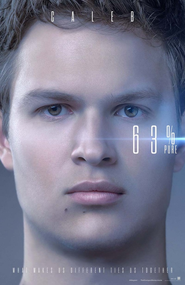 The Divergent Series Allegiant Ansel Elgort Teaser Character Poster USA