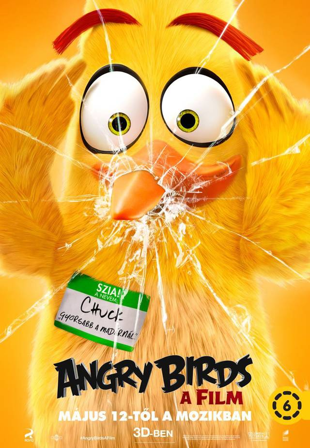 Angry Birds Teaser Character Poster Ungheria 01