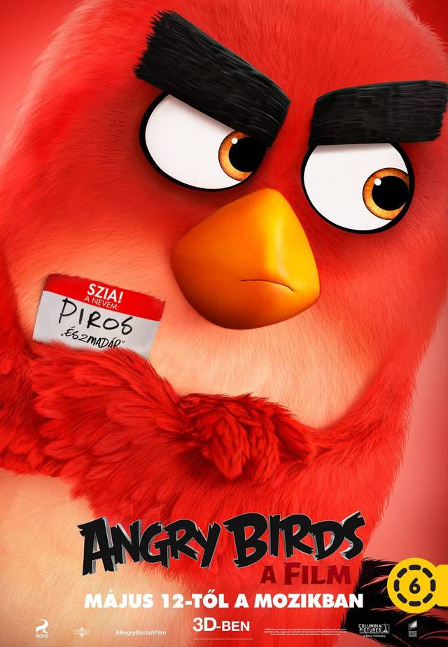 Angry Birds Teaser Character Poster Ungheria 02