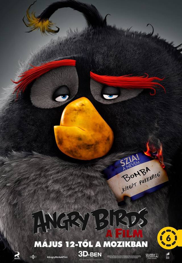 Angry Birds Teaser Character Poster Ungheria 04