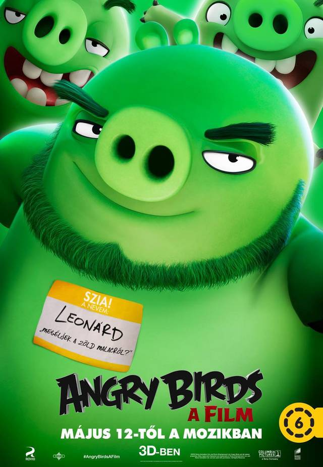 Angry Birds Teaser Character Poster Ungheria 05