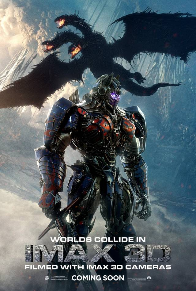 Transformers - L'ultimo cavaliere IMAX 3D Teaser Poster USA